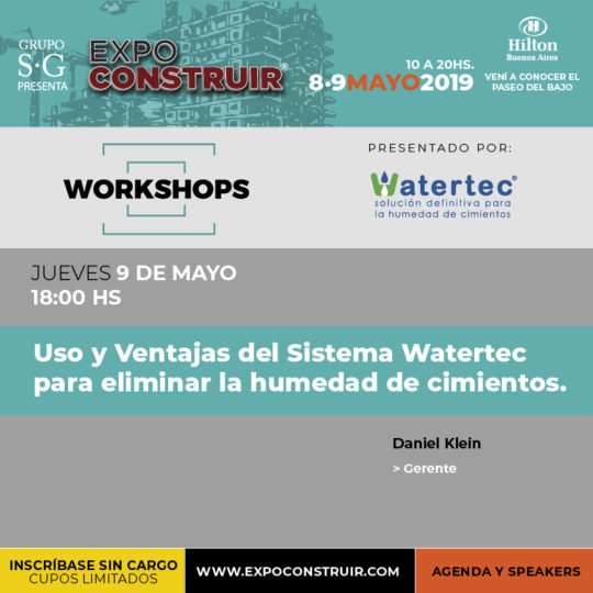 Workshop Watertec Expoconstruir